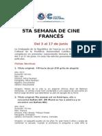 5ta Semana de Cine Francés
