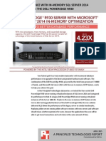 Improving performance with in-memory SQL Server 2014 database features on the Dell PowerEdge R930
