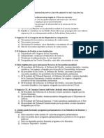 Test Auxiliar Administrativo Ayto Valencia (2003- Sin Respuestas)