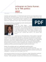 Prof. v.T Thamilmaran on Swiss Kumar, Accountability & TNA Politics