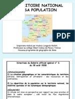 Le Territoire National Et Sa Population