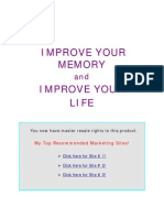 Improve Your Memory and Improve Your Life