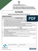 Prova - Nutricao Ufal 2014-2015