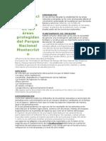 Areas protegida Parque Nacional Montecristo