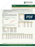 Value Partners Classic Fund Q1 2015 Commentary