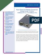 87 10267 RevA MC1301U 1310 SF MediaConverter