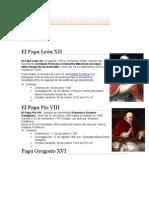 Biografía de Los Papas