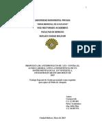 PROPUESTA DE ANTEPROYECTO DE  LEY  CONTRA EL  ACOSO LABORAL ANTE LA INEXISTENCIA DE UN INSTRUMENTO LEGAL  EN VENEZUELA