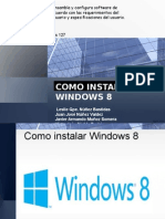 Como Instalar Windows 8 (diapositivas)