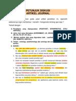 Petunjuk Diskusi Artikel Journal
