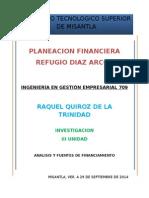 Unidad 3 Planeacion Financiera