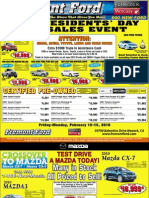 Presidents Day Sales Event at Fremont Ford & Fremont Mazda