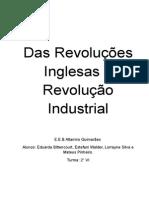 Das Revoluções Inglesas á Revolução Industrial