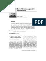 competitivitatea companiilor multinationale