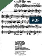 Muzik Notalari ( Turk Sanat Muzigi )