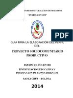 GUIA Perfil de Proyecto Sociocomunitario 2014 (2)
