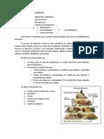 Resumo de Química de Alimentos