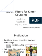 Bloom Filters for K-mer Counting CSCIE58 JLIN
