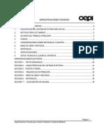 Especificaciones Tecnicas Ventilación Medicina