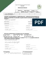 Practica de Algebra - Monomios, GradosI