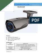 1Megapixel Vari-focal Weatherproof ip camera with IR Distance 40M TTB-IPC6238P Specification-www.ttbvs.com