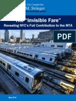 MTA Report Invisible Fare