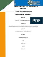 ANTECEDENTES HISTORICOS Y ANTECEDENTES CONSTITUCIONALES DE LAS POLÍTICAS Y LEGISLACIÓN EDUCATIVA