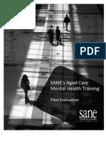 SANE's Aged Care Mental Health Training Evaluation