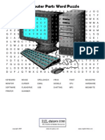 Computer Parts Word Puzzle