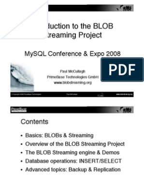 An Introduction to BLOB Streaming for MySQL Project