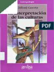 Geertz Clifford La Interpretacion de Las Culturas