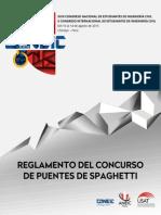 Reglamento Del Concurso de Puentes de Spaghetti - XXIII CONEIC Chiclayo 2015 (1) (1)