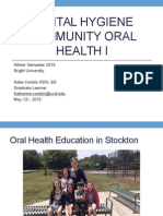 faculty calibration; community oral health