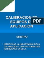 Calibracion de Equipo de Aspersion