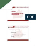 Material de Aula TOPAv ARQ Unidade 4 Microarquitetura Processadores 2015 1