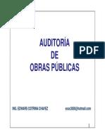 AUDITORIA DE OBRAS PUBLICAS