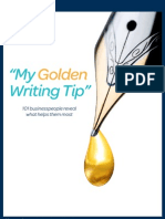 """My Golden Writing Tip"""