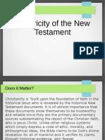 New Testament Historicity