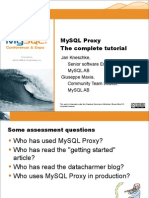 MySQL Proxy  The Complete Tutorial (full day) Presentation