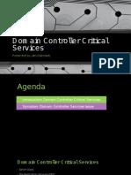 Domain Controller Critical Services