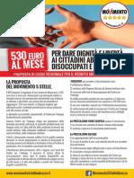 M5S Abruzzo Reddito Minimo