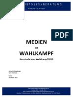Medien Im Wahlkampf - Studie