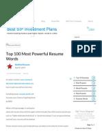 Top 100 Most Powerful Resume Words _ CAREEREALISM