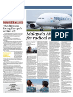 Malaysia Airlines Set for Radical Overhaul - Gulf Times 28 May 2015