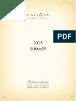 Calista Factsheet en 2015 Summer
