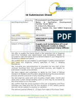 Bid Submission Sheet for LAN Set Up Final .Docx