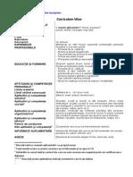 Model de Curriculum Vitae European