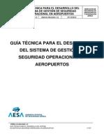 Guía técnica para el desarrollo del SGSO en Aeropuertos
