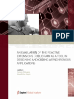 An Evaluation of the Reactive Extensions (Rx) Library as a Tool in Designing and Coding Asynchronous Applications