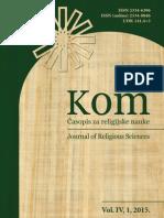 Људска природа у православном предању са освртом на ирфанску традицију у исламу